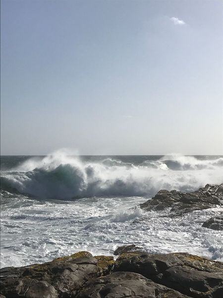 South Africa Sea Horizon Over Water Wave Beauty In Nature Motion Nature Water No People Sky Power In Nature