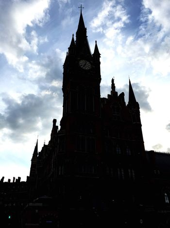 St. Pancras at sunset The Traveler - 2015 EyeEm Awards Urban Landscape Silhouette Sunset Church Check This Out Hanging Out Clouds And Sky Architecture Monuments Seeing The Sights My Best Photo 2015 London Lifestyle EyeEm LOST IN London Postcode Postcards
