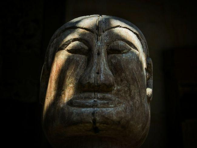 yoga's face Mask Face Mask Wooden Wood Wooden Mask Meditating Buddha Meditation Mask Rahadianerick INDONESIA Gianyar Sukawati Bali Java ASIA Ethnic Antique Sculpture Statue Black Background Spirituality Religion Single Object Close-up Carving - Craft Product Human Representation Sculpted Craft Buddha Art Art And Craft Fine Art Statue