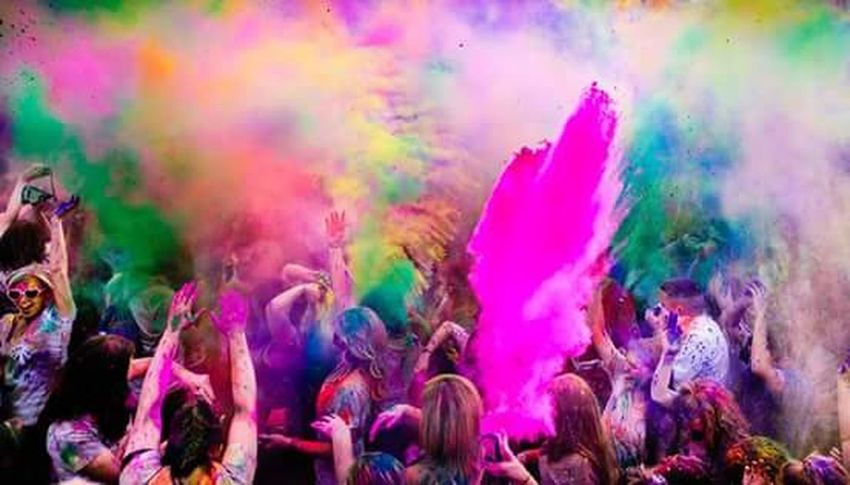 Let's Play Holi Multi Colored Celebration Traditional Festival Powder Paint Fun Tradition Happiness Talcum Powder Outdoors Motion Day People Crowd Adult Close-up Adults Only