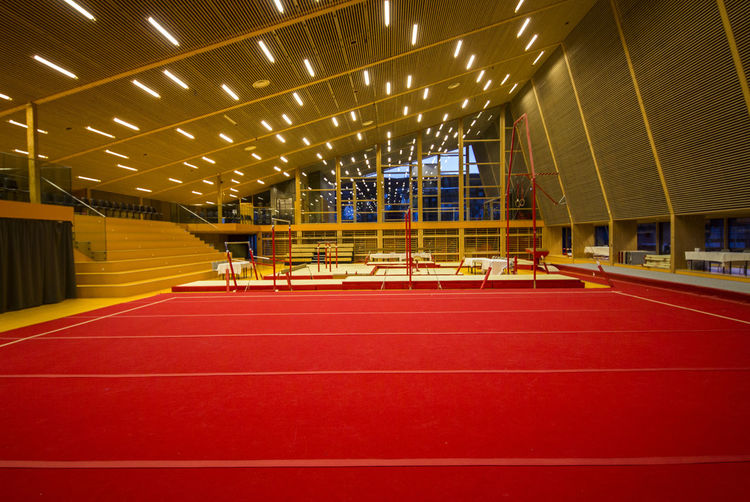 View of an empty stadium