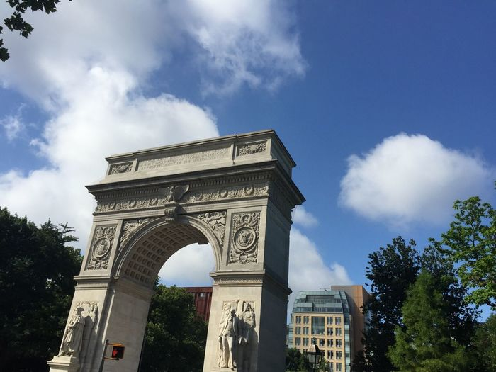 Beautiful Day Beautiful Day In The Neighborhood... New York City Washington Square Arch Facing South Greenwich Village Street Scenes