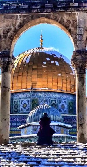 el Quds 💛💛💛 El Quds El AQsa Palistine <3 Arch Architecture Water Travel Destinations History Dome Day