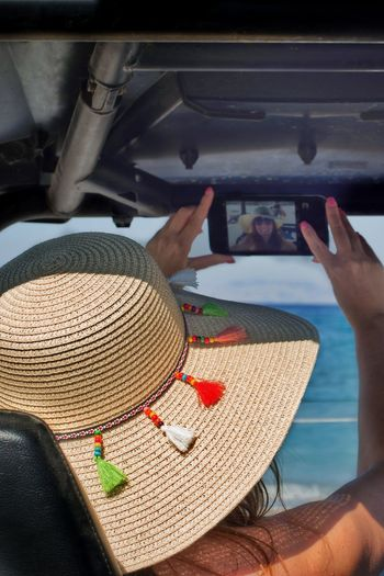 Hat Close-up Selfie✌ Buggy Car Sea View Travel Photography Rodos Greece Rhodes Greece