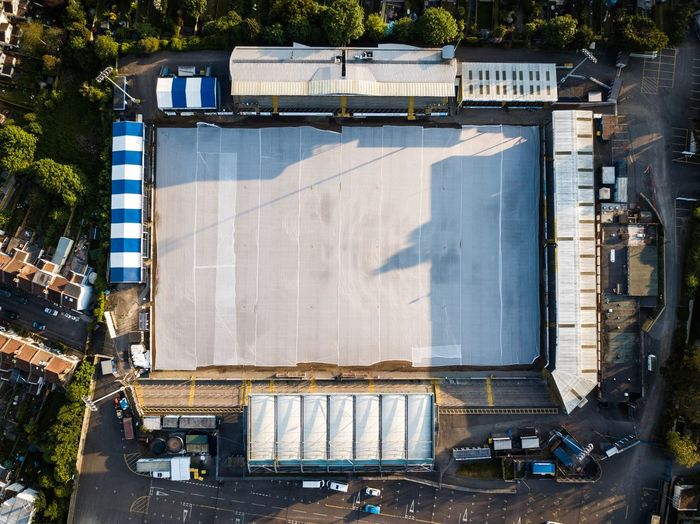 Bristol Rovers Football Birdseyeview Dronephotography Drone  Football Stadium Football Sunlight Day Architecture Nature High Angle View Built Structure City Outdoors Shadow Building Exterior Plant No People Sunny Directly Above Sport