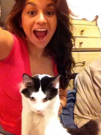 Looking Ratch With My Evil Cat