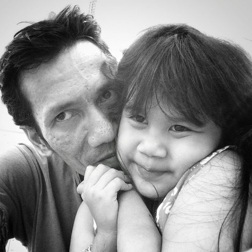 Me and my daughter Parenting Parenthood Father And Daughter Father Fatherhood Moments Blackandwhite Portrait Portrait Of Father And Daughter Family