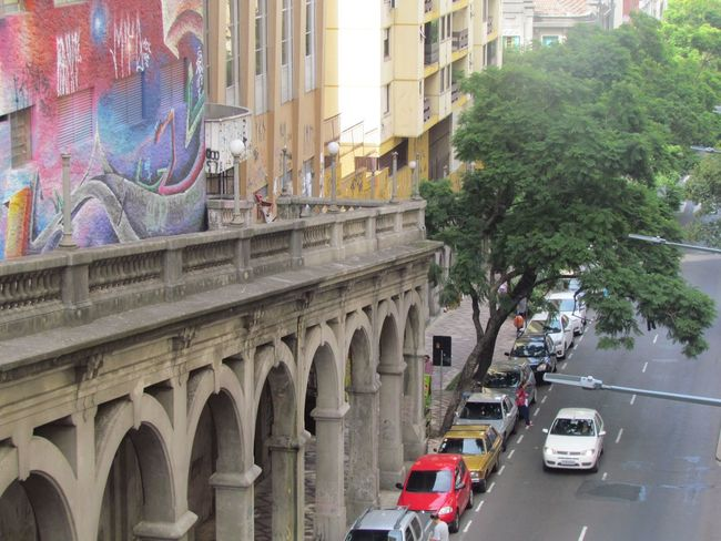 Arch Architecture Brazil Building Exterior Built Structure Car City City Life Day Land Vehicle No People Outdoors Porto Alegre Transportation Travel Destinations Tree Triumphal Arch