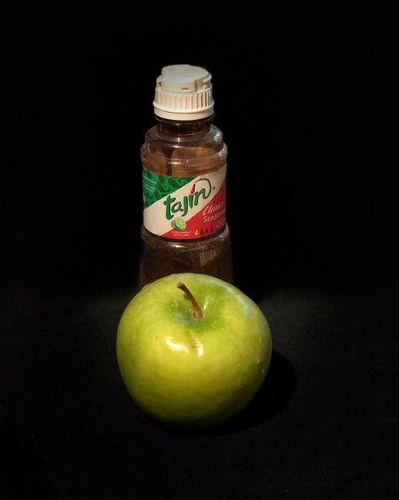 Need more Tajín. Food Healthy Eating Food And Drink Black Background Fruit Apple - Fruit Studio Shot Green Color Apple