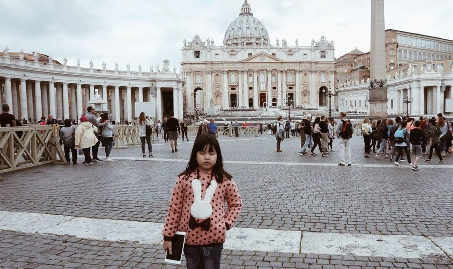 Tourist Attraction  Exterior Architecture Exterior Design Travel Destinations Rome Italy Travel Photography VaticanCity Saint Peter's Basilica Architecture_collection Tourist Little Girl Enjoying Life