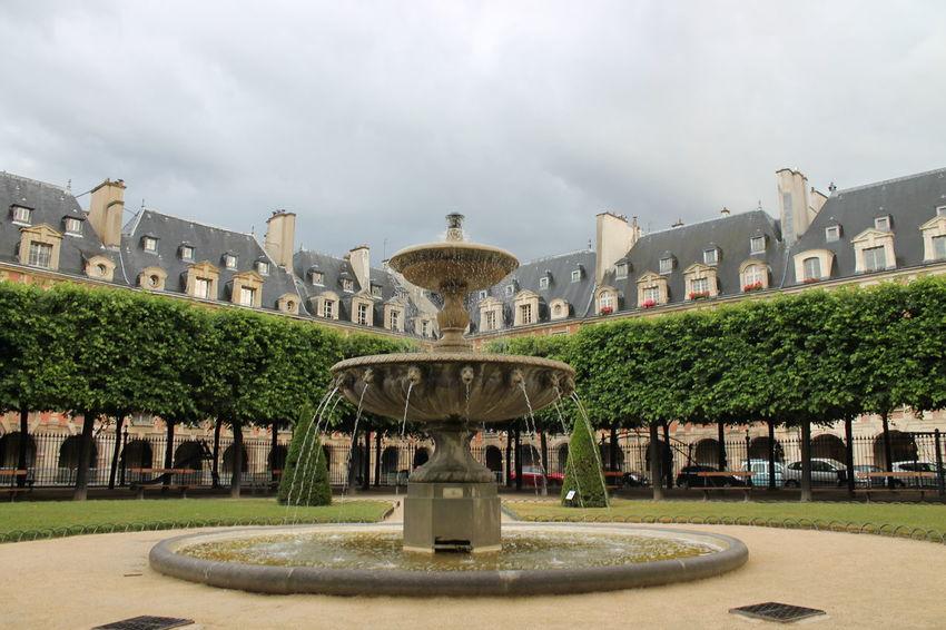 After Rain Architecture Cloud - Sky Fountain Paris Park Victor Hugo House First Eyeem Photo