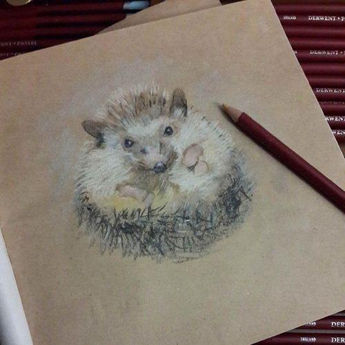 Derwent Drawing Animal Chark process wip в процессе)