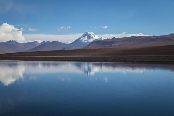 Chile early 2018 Atacama / Chile 🇨🇱 Atacama Chile Atacama Desert EyeEm Selects Mountain Scenics - Nature Water Reflection Sky Tranquility Beauty In Nature Mountain Range Snow Lake Landscape