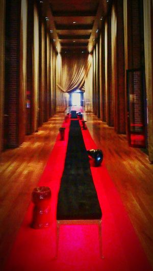 Indoors  Illuminated The Way Forward City Architecture Day No People Argentina Buenos Aires EyeEmNewHere Life Hotel Perspective Red Chair Puerto Madero, Argentina FAENA Art Artistic Expression Photo Of The Day The Architect - 2017 EyeEm Awards