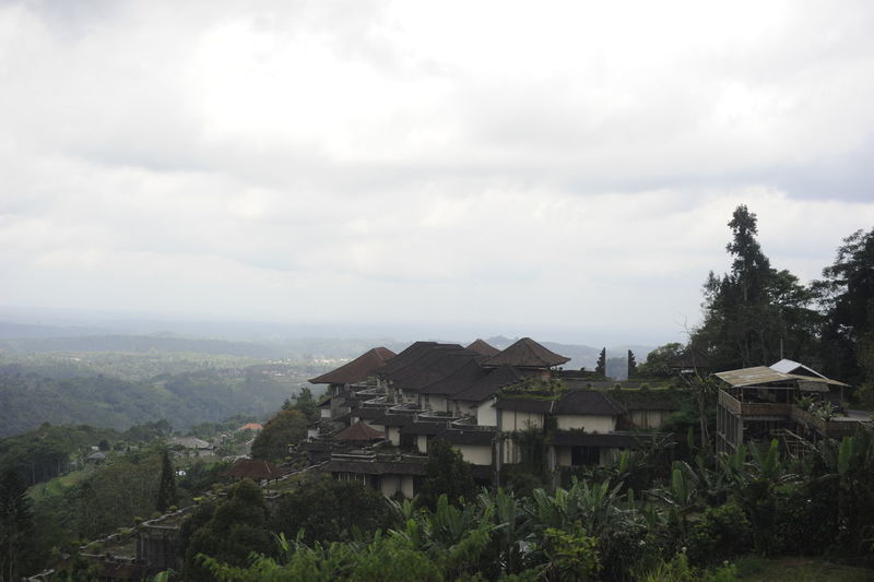 View Bali, Indonesia Tranquil Scene Mountainside Houses