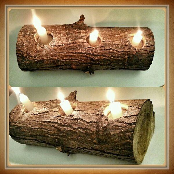 Wood Art Tealight Candleholder DIY
