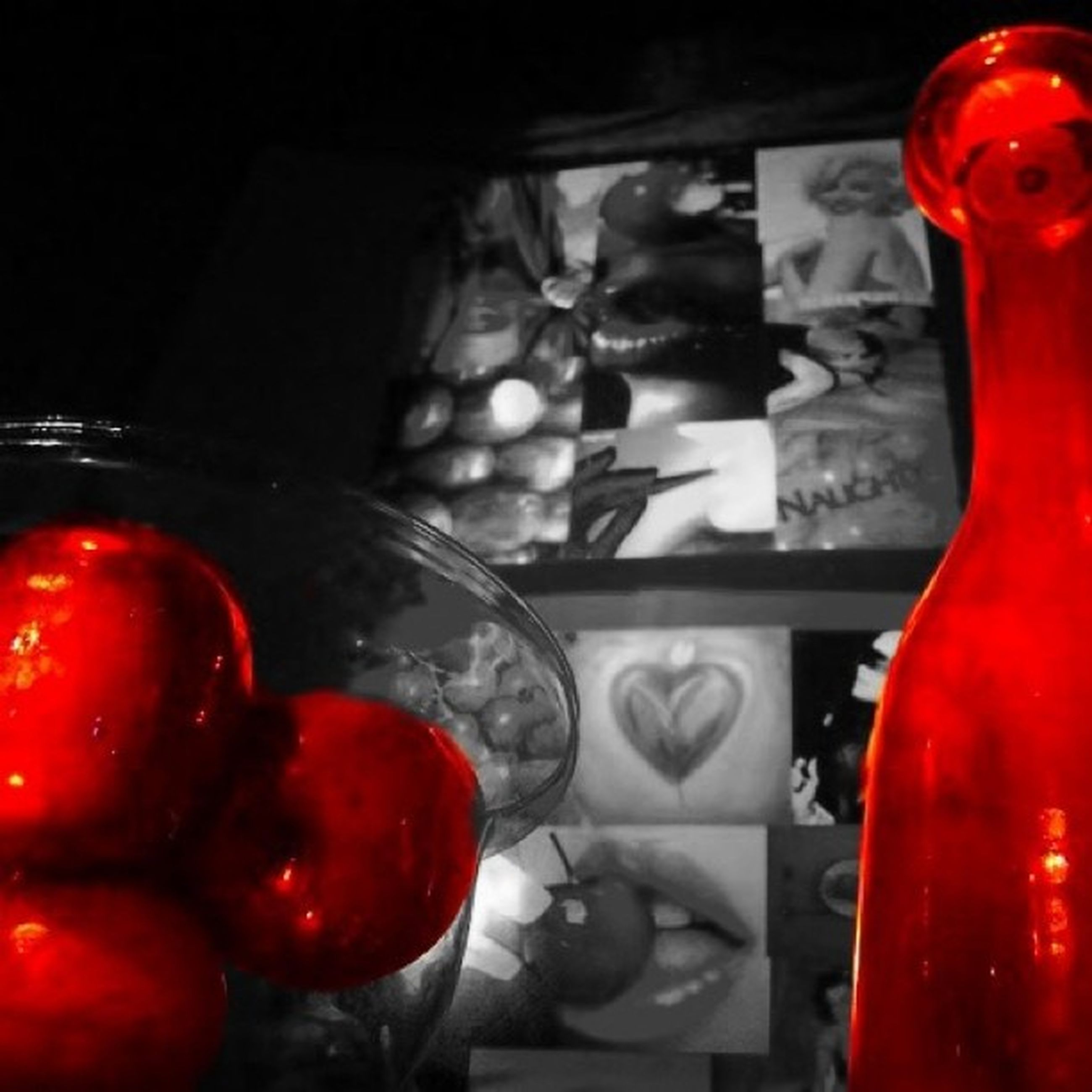red, indoors, close-up, food and drink, focus on foreground, glass - material, still life, metal, transparent, no people, healthy eating, window, container, food, table, day, selective focus, drink, home interior, fruit