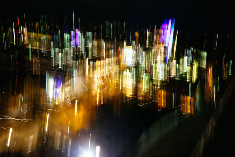 Abstract Photography Abstractions In Colors Blurred Cities At Night Cityscape Colors Motion Blur Abstract Blurred Motion City Citylights Colorful Glowing Illuminated Light - Natural Phenomenon Long Exposure Modern Motion Motion Photography Multi Colored Night Reflection
