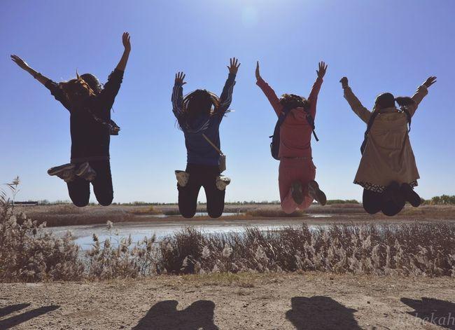 Happy Time Beautiful Girls  Jumping !