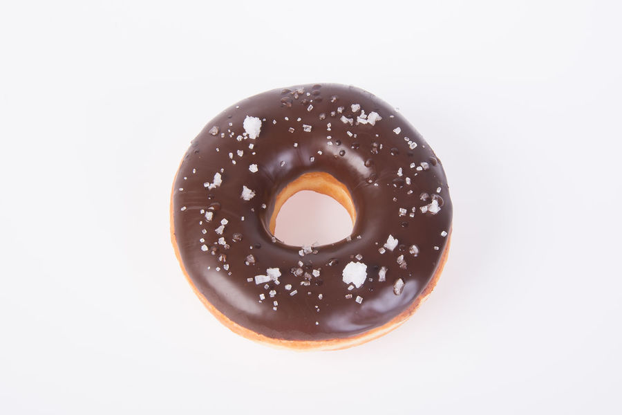 Chocolate Close-up Dessert Dessert Topping Donut Food Food And Drink Freshness Glazed Food Indoors  Indulgence No People Ready-to-eat Sprinkles Studio Shot Sweet Food Temptation Unhealthy Eating White Background
