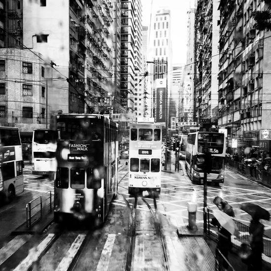 Rainy Days Black And White City Discoverhongkong City Life Life Rain Time Car Photography Love Day EyeEm Best Shots Bus