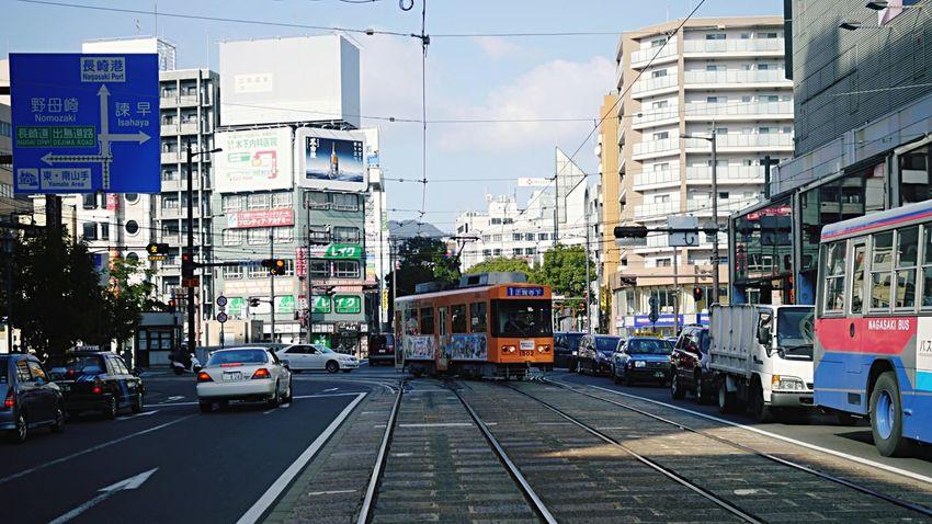 Across The Street Nagasaki electric Tramway : Nishi Hamano machi 16:9 Crop Sunday Morning On The Road Early Good morning? EyeEm Vintage Filter plus / Panasonic GX1