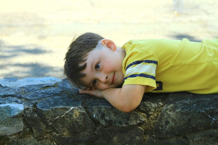 Child Portrait One Person Children Only Lying Down Childhood People Headshot Smiling Close-up Mendocino County Willits California Countryside Summer Enjoying Life