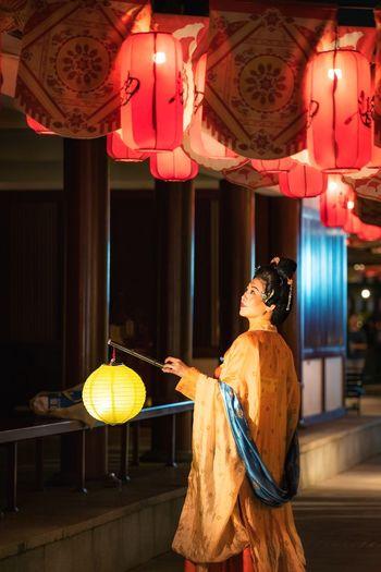 Chinese lantern festival girl