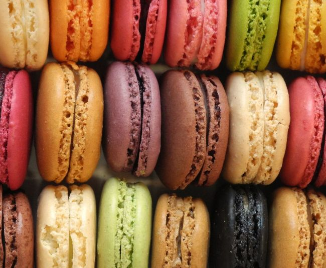 Close-up view of macaroons