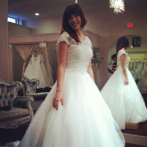 Trying on dresses was so fun. This was not the one, obviously, but it was a pleasure to feel like such a princess in all those beautiful gowns! Weddingdress Bride Bridalboutique