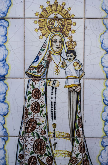 Architectural Feature Art Backgrounds Ceramic Ceramica Ceramics Close-up Creativity Day Design Directly Below Full Frame Image Of The Virgin Mary, Low Angle View No People Ornate Pattern Pottery Pottery Art Pottery Talavera SPAIN Talavera De La Reina Tiling Toledo Toledo Spain