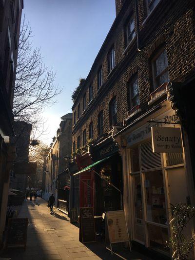 Street Building Exterior Sky Day Sunshine Sunlight Shadow Lambs Conduit Passage London