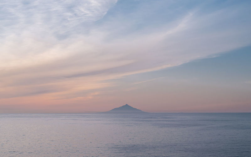 Rishiri island in early summer evening