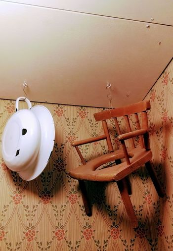 No People Day Indoors  Chair On The Cell Spittoon Chair Wall Vintage Water Vintage Toilet Antique Water