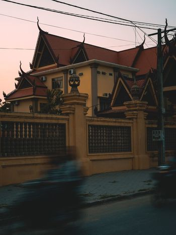 Cambodian evenings Architecture Travel Destinations City Cambodia ASIA Real Life Travel Photography Showcase: April Travel Movement Slow Shutter Kampot Culture