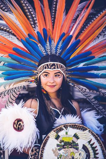 Azteca Danza EyeEmNewHere Cultures San Francisco Aztec One Person Portrait Looking At Camera Young Adult Young Women Front View Smiling Women
