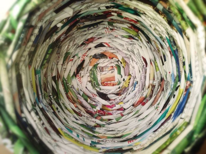 186/365 July 5 One Year Project 2017 Paper Close-up Abstract Concentric No People Water Fish-eye Lens Indoors  Day Handmade