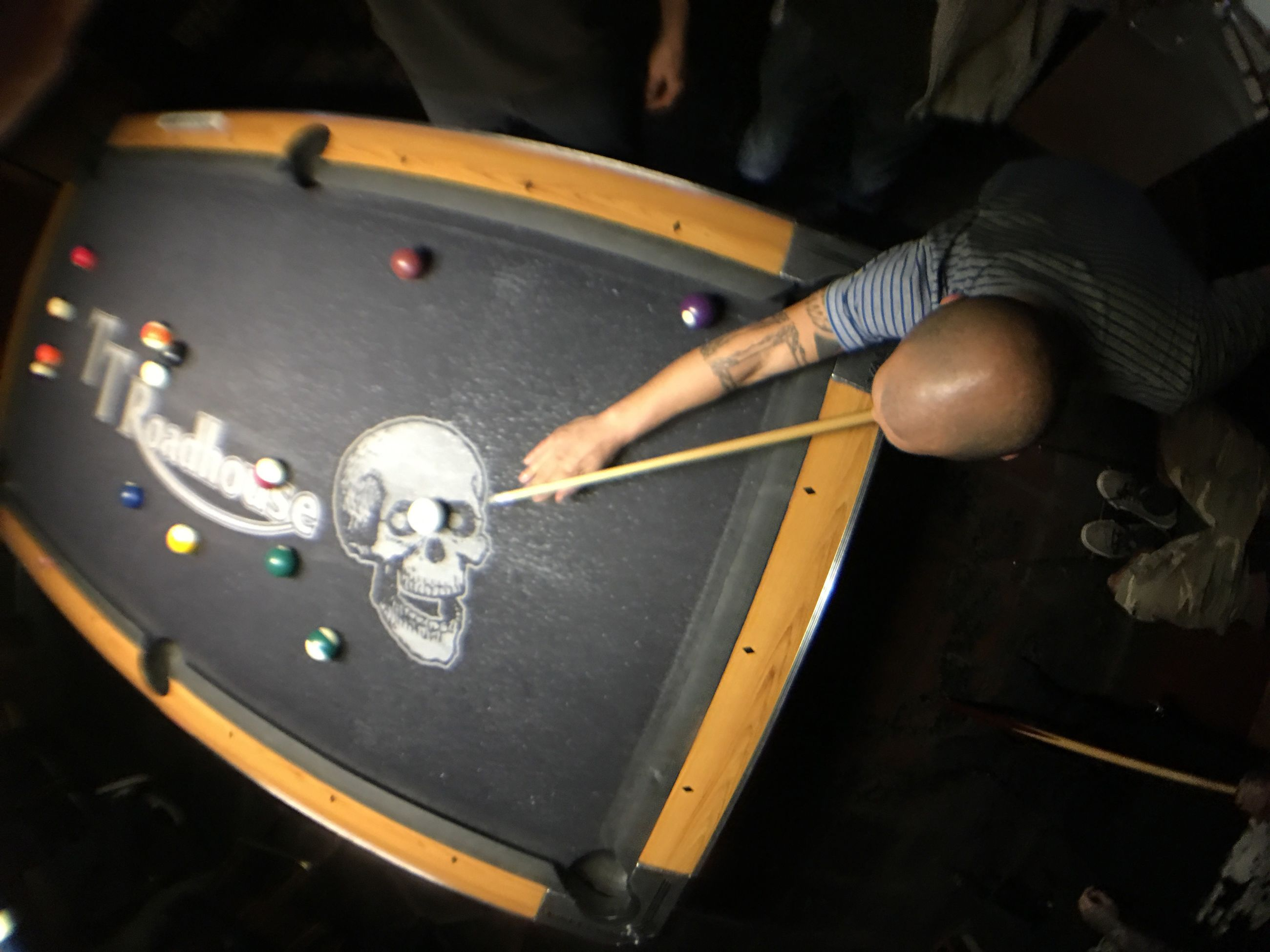 indoors, human hand, adults only, only men, playing, skill, adult, one man only, one person, men, real people, human body part, people, close-up, pool table, pool cue, pool ball, pool - cue sport, musical instrument, day, cue ball, snooker