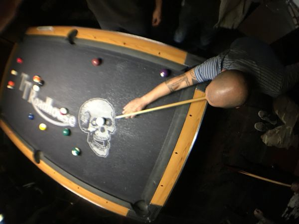 Playing pool at the TT Roadhouse in Phoenix Arizona > Good times with Friends from the past and present > Reunion  Weekend