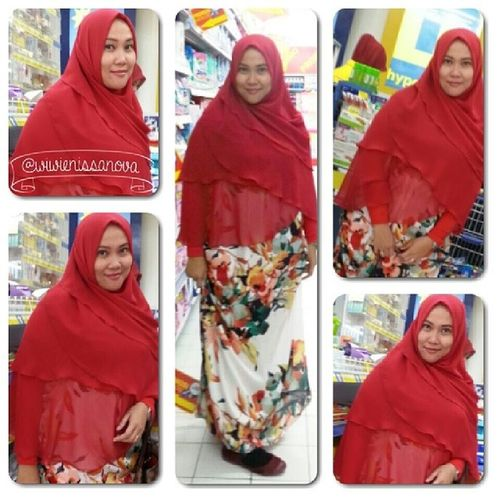 Since years ago..since I was a kids till now..always and really really love red...yesss red is my fave colour.. I think red means brave, shiny, beautiful, strong, awesome and impresive... and of course I'm in love with my red khimar from mba yurni @yurnidira so comfy..makes some beautiful layer and very bright colour... Syukran mbaa yurni..ramah..baik.. bales bbm malam2 juga okee :) Recommended Syarimystyle Syarimyidentity Hijabsyari hijabcovered chestcoveringhijab khimarsyari wnehijab alfanova redthing @yurnidira