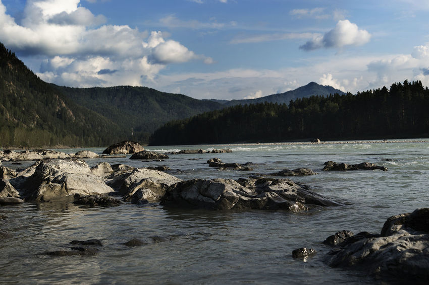 Altai Beauty In Nature Day Landscape Mountain Nature No People Outdoors Scenery Scenics Sky Tranquility Water