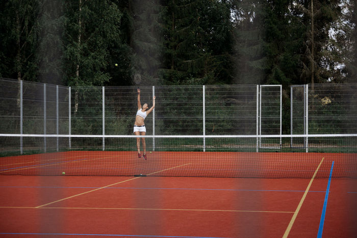 The Diary of a Stalker Linas Was Here Rural Fence Fitness Forest Playing Remote Spectator Sport Stalker Tennis Court Training White Shorts
