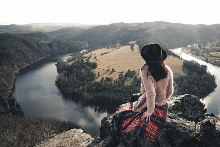 The beauty of czech country🇨🇿 Village River Folk Light View Beautiful Nature Czech Nature Hat Mountain One Person Rear View Nature Women Looking At View Adventure Travel People Beauty In Nature Landscape Scenics Hiking Outdoors Go Higher