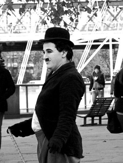 London Londonlife Charlie Chaplin Streetart Streetartist Londonstreets Happy Smile