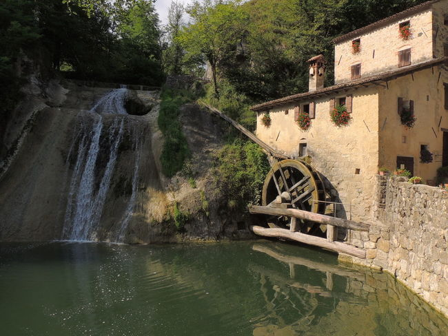 Molinetto Della Croda Architecture Built Structure Day Nature No People Old-fashioned Outdoors River Tree Water Water Wheel Watermill