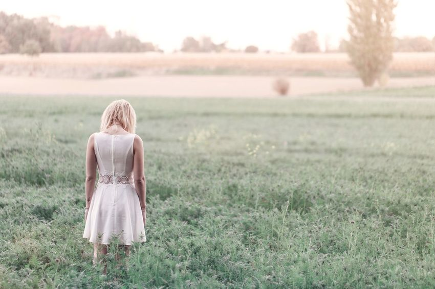 Outside series Blond Hair Rear View Grass One Person Field People One Woman Only Adult Rural Scene Day Young Adult Back Human Back Outdoors Beautiful Woman Nature Portrait Of A Woman The Portraitist - 2017 EyeEm Awards Open Edit The Week On EyeEm Pretty Woman Tree Portrait EyeEm Selects Beautiful Girl