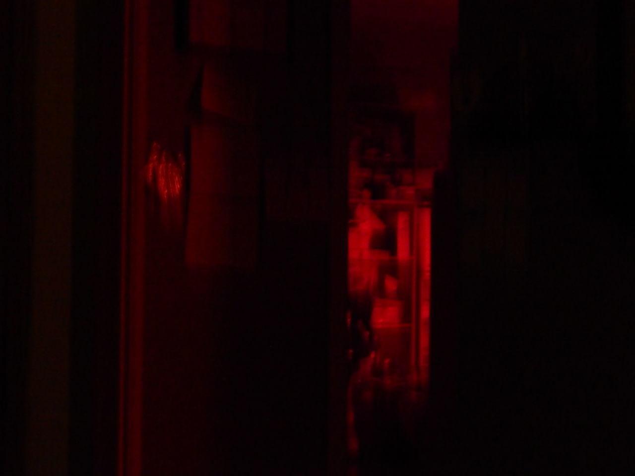 red, indoors, no people, illuminated, night, close-up