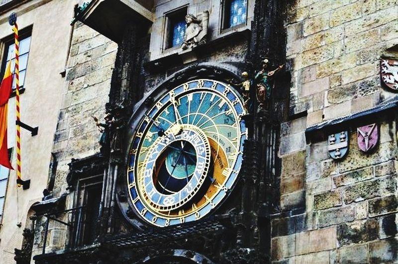 Prague Clock Czech Republic Traveling