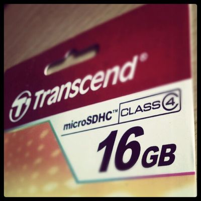 4 to 16 gig upgrade for my galaxy sl :-) I9003 Memory Card Class4 transcend