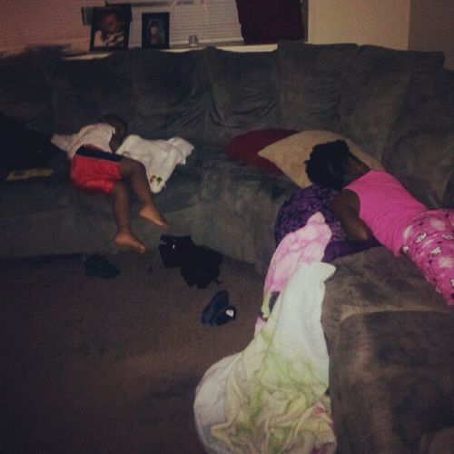 My babies was knocked out when I got home lastnite Thankskenny